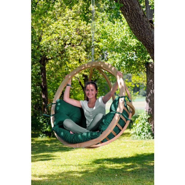 'Globo' Weatherproof Green Hangstoel