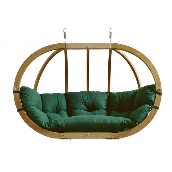 'Globo Royal' Weatherproof Green Hangstoel