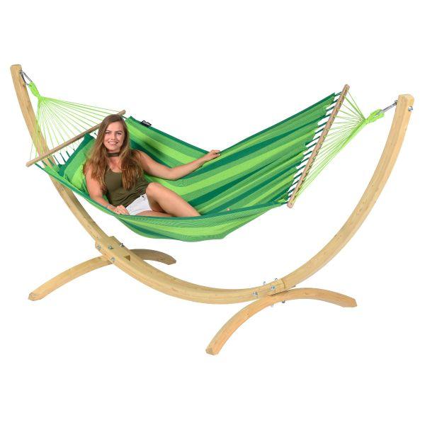 Wood & Relax Green Eénpersoons Hangmatset