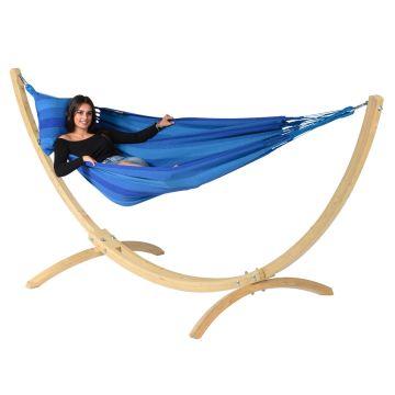 Wood & Dream Blue Eénpersoons Hangmatset