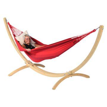 Wood & Dream Red Eénpersoons Hangmatset