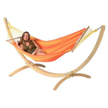 Wood & Relax Orange Eénpersoons Hangmatset