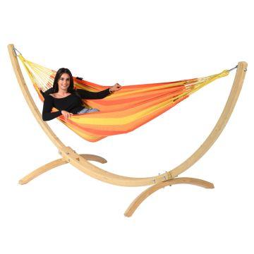 Wood & Dream Orange Eénpersoons Hangmatset