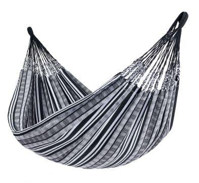 Comfort Black White Tweepersoons Hangmat