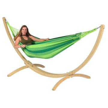 Wood & Dream Green Eénpersoons Hangmatset