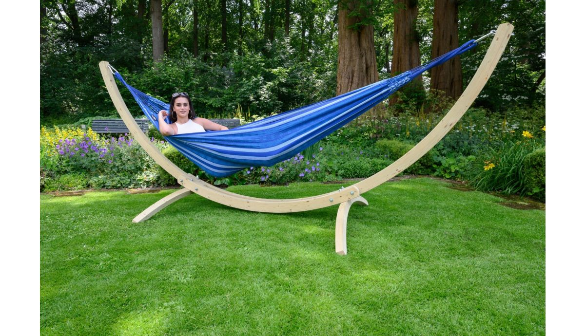 'Wood & Chill' Calm Tweepersoons Hangmatset