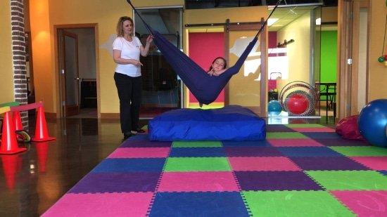 Hangmat bij sensorische bewegingstherapie