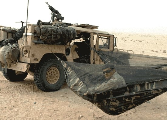 Hangmat in het leger