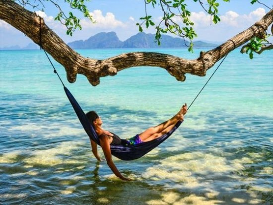 In je reishangmat kun je altijd relaxen en gratis overnachten