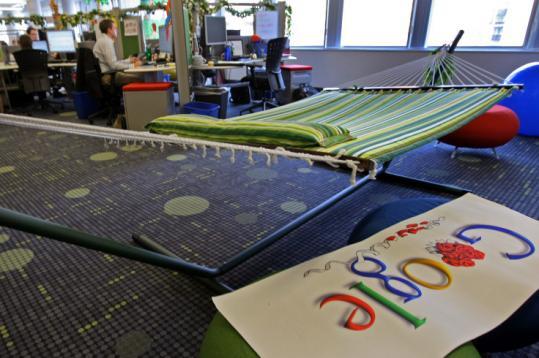 Hangmaten bij Google