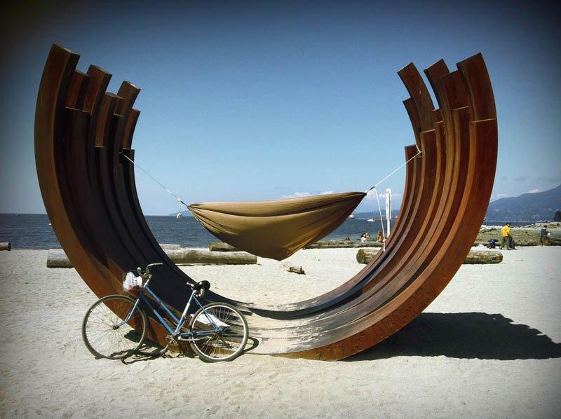 Beste hangmat locaties - The English Bay Vancouver