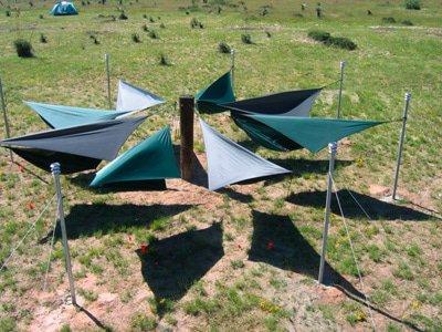 Een hangmat tuin op je camping!